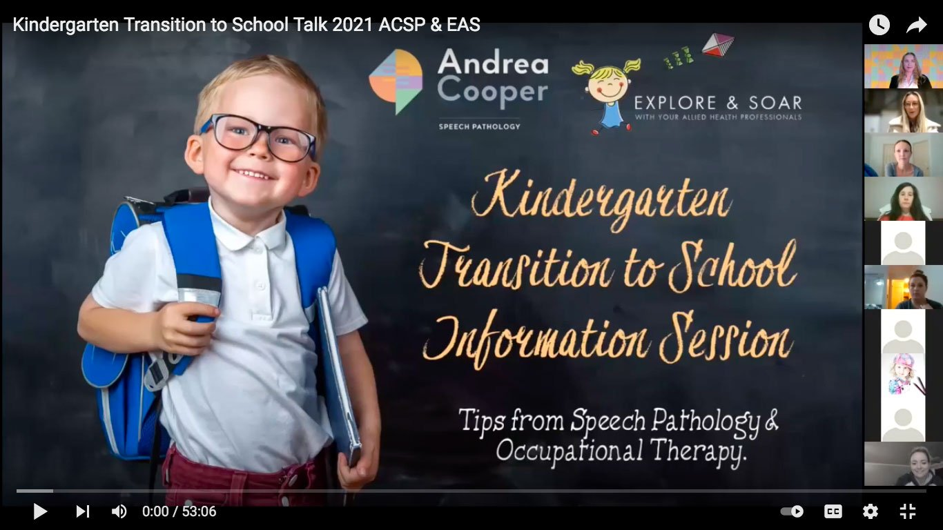 Kindergarten Transition-to-School Talk 2021 ACSP & EAS - Slide